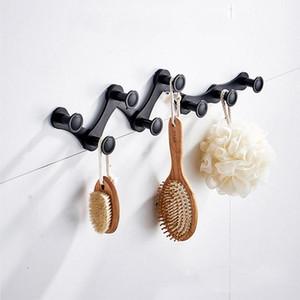 4/6/8 ganchos de toalha expansível ganchos de toalhas cabide ajustável cremalheira de alumínio montado na parede chapéu BDF99