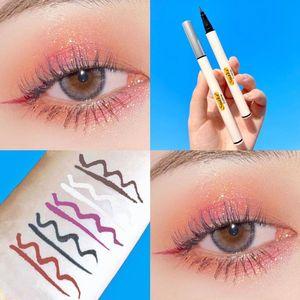 5 Colors Liquid Eyeliner Pencil Black Brown Purple Smooth Silky Thin Eye Liner Pen Waterproof Long Lasting No Blooming