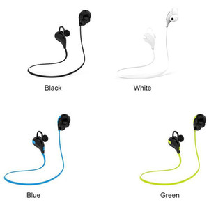 Cheap Portable Neckband Noise Cancelling Stereo Headset Sport In Ear Earphone Earbuds Running QY7 wireless bluetooth