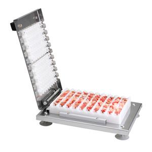 Beijamei Toptan Manuel Mutton Kebap Makinesi BARBEKÜ Şiş Dize Yapma Makinesi Paslanmaz Çelik Et Satay Skewer