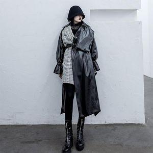 Women's Wool & Blends Leather Jacket Cotton Coat Women's Loose Irregular Tweed Patchwork In 2021 Winter Oversized Womens Coats Long Ove