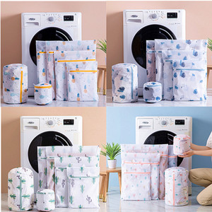 1 Set Zipper Mesh Laundry Bag Washing Machine Dedicated Dirty Wash Bag Underwear Sock Bra Laundry Basket Multi-size Washing Kits Z1202