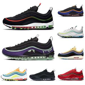 max 97 off white airmax 97s og MSCHF x INRI Jesus stock x Bullet Sean Wotherspoon Have a day UNDEFEATED scarpe da ginnastica da uomo scarpe da ginnastica da donna