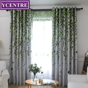YCENTRE Pastoral Style Decorative Window Treatment Leaves Printed Blackout Curtains for Living Room Curtain Drapes for Bedroom1