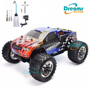 HSP RC Truck 1:10 Scale Nitro Gas Power Hobby Car Two Speed Off Road Monster Truck 94188 4wd High Speed Hobby Remote Control Car 201124