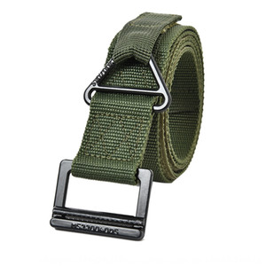 Luxury-Outdoor tactical multi functional CQB men's belt drop rescue protection Protective Canvas canvas belt