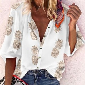 2020 New Long Sleeve Womens Shirt Blouse Autumn Office Lady Blouses For Women Tops 2019 Summer Vintage Button Female Shirts