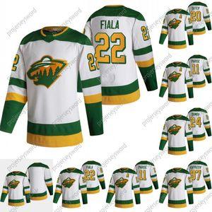 Minnesota Wild 22 Kevin Fiala 2020-21 Ters Retro Jersey 11 Zach Parise 20 Ryan Suter 22 Kevin Fiala 24 Matt Dumba 97 Kirill Kaprizov