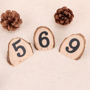 10PCS Small Nontoxic Wood Natural Simple Brief Durable Seat Number Plate for Wedding Party Birthday
