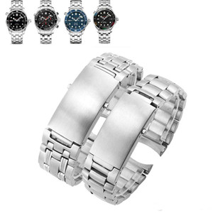 Watchband Solid Stainless Steel Watchband 20mm 22mm Fold Buckle Watch Bracelet for OMG Watch Ocean 300 600 Man 007 AT150 Watchband band