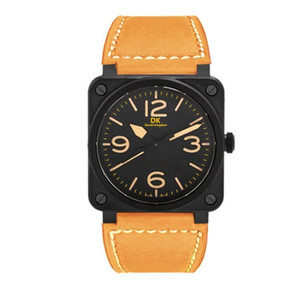 Simple Designer Luxury Steel Quartz Man watch Sports Leather stop watch Chronograph Wristwatches Life Waterproof male date clock Hot Items