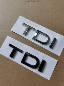 1X Chrome glossy black ABS TDI car rear Emblem sticker for Audi A1 A3 A4 A5 A6 A6L A7 A8 S3 S6 Q3 Q5 Q7 TT S RS