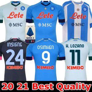20 21 Napoli Soccer Jersey Naples Chemise de football 2020 2021 Koulibaly Camiseta de Fútbol Insigne Milik Maillots H.Lozano Mertens Hommes Enfants