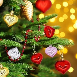 Christmas Decorations Tree Decoration Room Love Shape Ball Props Small Handing Pendant Year Party Decor 12Pcs P41