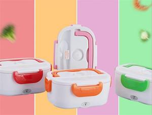 Plug In-Lunchbox Split-Stil Wärmeerhaltung Massivfarbe Rechteckige Boxen Heizung Tragbares Abendessen Eimerung Easy Clean 22HB L2