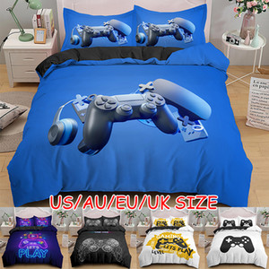 Games Comforter Cover Gamepad Bedding Set for Boys Kids Video Modern Gamer Console Quilt 2 Or 3 Pcs 201127