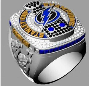 2020 Tampa Bay Championship Ring With Wooden Display Box Souvenir Fan Men Gift Wholesale 2020