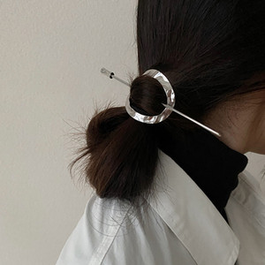 Modern Simple Metal Hairpin Retro Lazy Style Hair Fork Elegant Ins Net Red Cold Style Hair Accessories