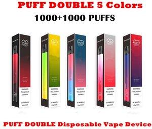 Puff Double Bar Plus 2000 + sbuffi monouso Penna vape 900mAh Batteria 6ml Pods Cartucce E Cigs Sigaretta in edizione limitata Edizione Monouso