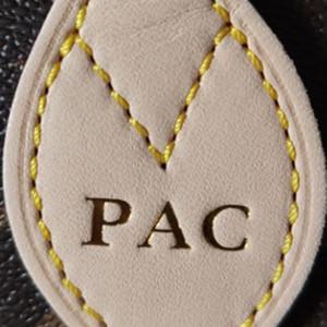 Bolso de estampado de calor de moda Personalización de bolsas Iniciales Iniciales Número impreso Palabras de bronce