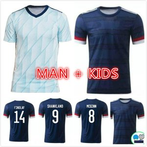New Scotland Soccer Jerseys 2020 2021 Robertson Fraser Football Shirt Set Naismith McGregor Christie Forrest McGinn Hombres Hombres Inicio Alojamiento Unifo