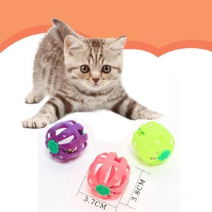 Chat Jouet Balle creuse avec Bell Teaser Ball Plastic Ball Entraînement Toy Toy Tool Tool Toys Chat Toys Pet Fournitures de compagnie Gatos2020