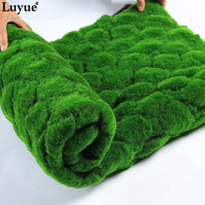 Luyue 1M*1M Square Artificial Plant Lawn Home Simulation Plant Background Wall Moss Turf Green Sod Interior Window Decoration Q1126