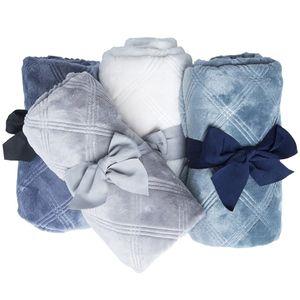Blankets Newborn 3D Flannel Swaddle Wrap Baby Boy Girl Solid Bedding Set Infant Stroller Cover Kids Blanket Q1121