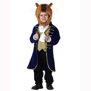 2-8 years autumn winter children clothing Boy Movie Beauty Beast costume cosplay fantasy halloween prince costumes boys clothes Y1117