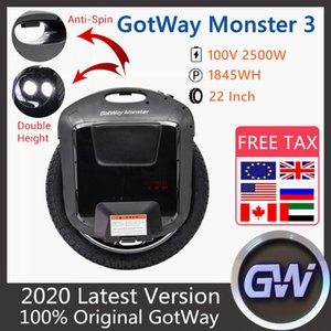 2020 NOUVEAU ORIGINAL GOWWAY BÉLÉMENT DE MONSTER 3 MONICIE 2 22 pouces 100V 1845WW 3ème génération Monster Scooter électrique
