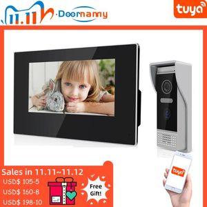 Doornanny Video Intercom IP Wi-Fi Беспроводное Smart Video Doorbell для Home Apartment 7inch Videodoorphone Poe Auto Record