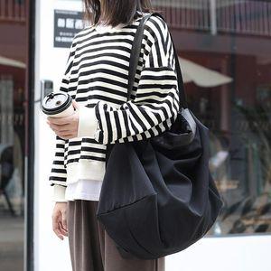 Moda Versátil Gran Capacidad Bolsa de Hombro Ocio Moda Viajes Oxford Paño Bolsa de Mujeres Simple Color Sólido Deporte Mensajero