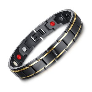 Magnetic Bracelet, Auniquestyle Brand Design Fashion Bangle Health Energy Bracelet Men Women Jewelry Stainless Steel Bio Magnetic Bracelet