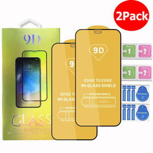 iPhone 12 11 Pro Max iPhone XR X XS Samsung A71 A51 5G A01 A11 A21 A31 A41 9D 강화 유리 전화 화면 보호기 2pcs 1 패키지