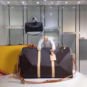 Viajes Nueva Keepall Mujeres bolsa de gran capacidad Bolsas de hombro Hombres equipaje Handabag Duffle diseñador de los bolsos del bolso de Crossbody del monedero 50cm 55cm