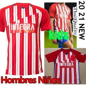 20 21 Sporting de Gijón Soccer Jerseys Gijon 2020 2021 Camiseta de Fútbol Manu García DjurdJevic Aitor G. JS Babin Hombres Camisas de fútbol para niños
