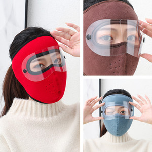 Winter warm masked Cycling face mask polar fleece riding windproof goggles Face mask ski outdoor dust Face Cover Dropshipping Q0501