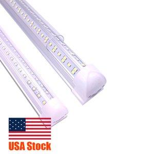 V-Shaped 2 3 4 8ft Led Tube Light T8 Integrated Led Tubes Double Sides 144W Led Fluorescent Lights AC85-265V USA Stock