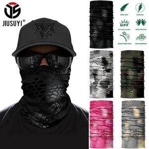 Men Scarf Python Printed Camo Black Bandana Magic Mask Face Cover Neck Gaiter Bicycle Sport Running Summer Tube Half Masks Women