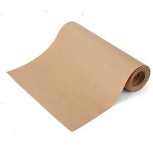 Rolo de papel de Kraft de Brown Rolo de 12 polegadas X100 Pés Recicláveis Naturais para Artesanato Presente Embalagem de Embalagem JK2102XB