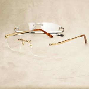 2021 New Fashion Panther Clear Mark Men Hombres Loy Eyeglasses Mujeres Gafas Vintage Gafas de computadora para Carter Y7EI
