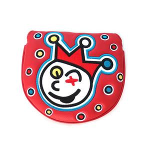 Trébol borda Golf Cubierta de la cabeza del golf putter Mallet cubierta Rojo Verde Azul Negro Blanco color 5