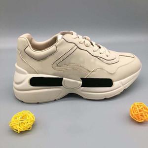 New Leather Sneaker Hombres Mujeres Zapatos con onda de fresa Boca Tiger Web Imprimir Vintage Trainer Hombre Zapatos de mujer Zapatos casuales HM011 PG01