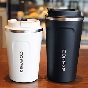 2020 New 500 380ML Thermos Flask Coffee Mug Thickened Big Car Thermos Mug Travel Thermo Cup With Lid Thermosmug Gifts Vacuum Flask Wholesale