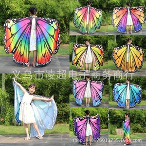 Spinning Halloween Cabo Butterfly Shawl Decoração Borboleta Cabo Dança Dança Butterfly Butterfly Wings