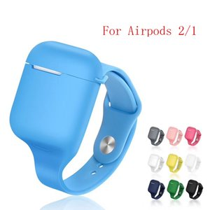 Sports Silicone Case for AirPods 2 Case Wrist Band Earpods Cases for AirPod Air Pods 1 Cover Coque Soft Portable Fundas Luxury MOQ 10pcs