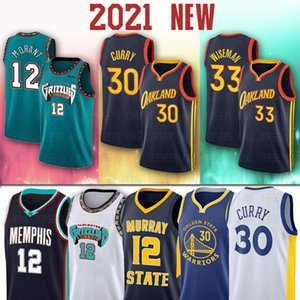12 JA Stephen Morant James Curry Wiseman MemphisGrizzliesHOMBRESNba doradoEstadoGuerrerosJerseys de baloncesto de Jersey