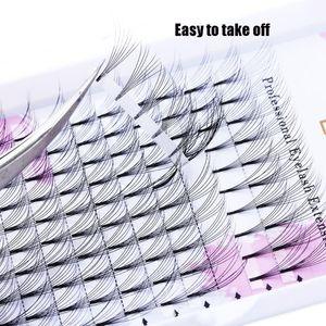 12 Rows Case 3D~10D Individual False Eyelashes Semi Permanent Natural Long Faux Mink Premade Russian Volume Fans C D Eye Lash