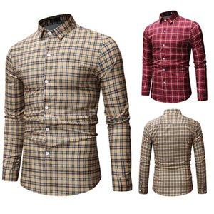 남자 캐주얼 셔츠 슬림 피트 셔츠 남성 캐주얼 버튼 다운 셔츠 긴 소매 공식 드레스 셔츠 남성 남성 의류 긴 소매