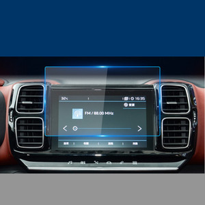 Citroen C5에 대 한 실제 GPS 자동차 네비게이션 필름 C5 에어 크로스 C4 C-Quatre Central Contral Screen Glass 강화 HD 보호 필름